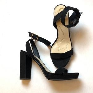 Circus by Sam Edelman Black Block Heel Sandal 5.5